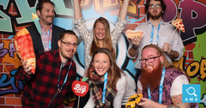 Photo booth shot of SMX East attendees